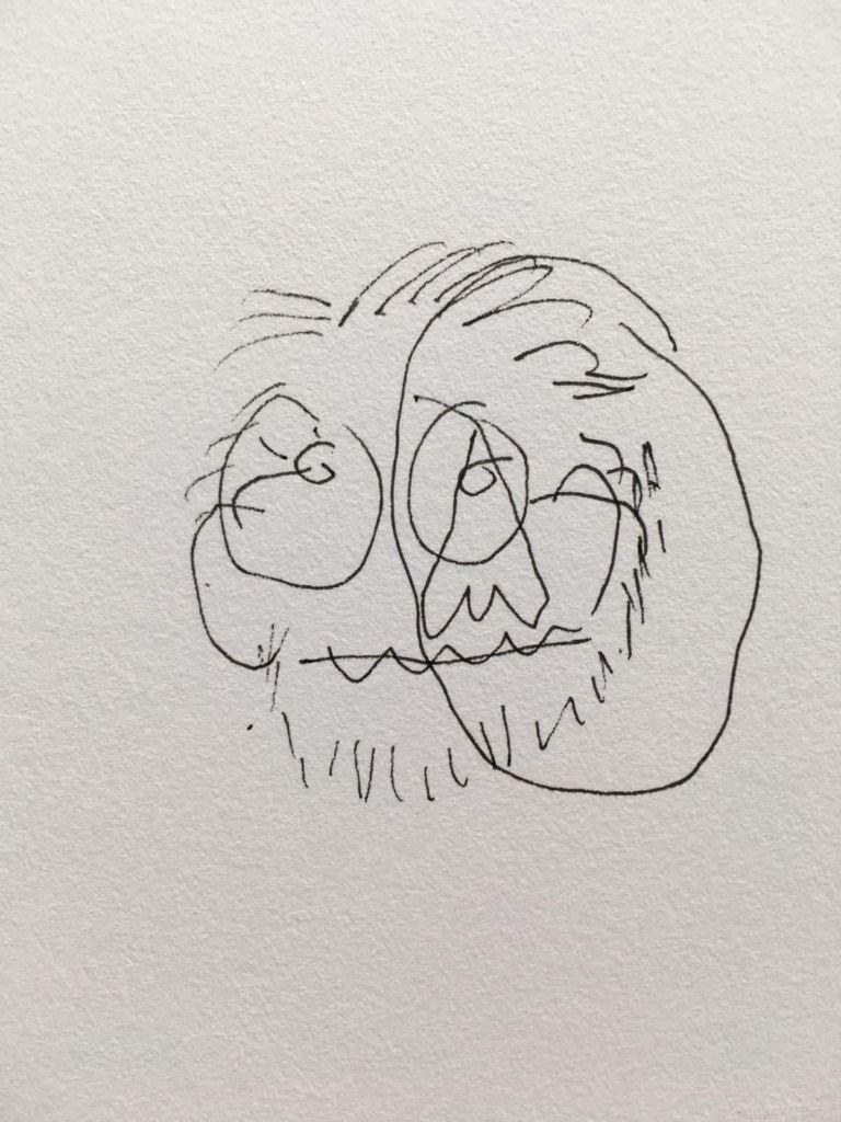 DAAN BOTLEK Self-portrait with eyes closed