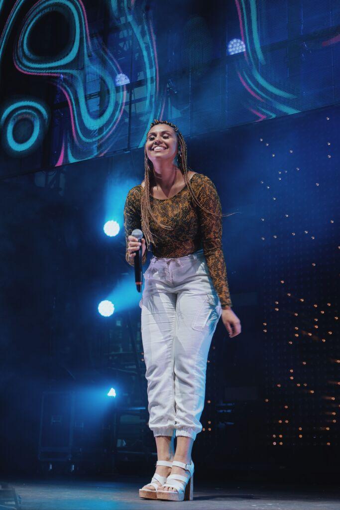 Brenda Carolina on the stage